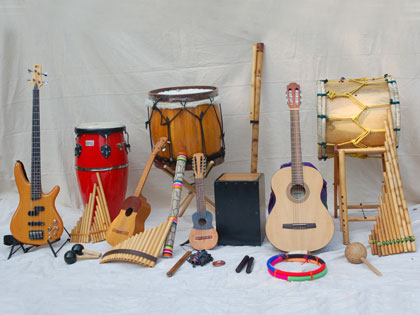 Traditional instruments of Latin America